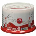 50 Maxell 275701 White Printable DVD-R 16x 4.7 GB 120 mins Blank Discs Spindle